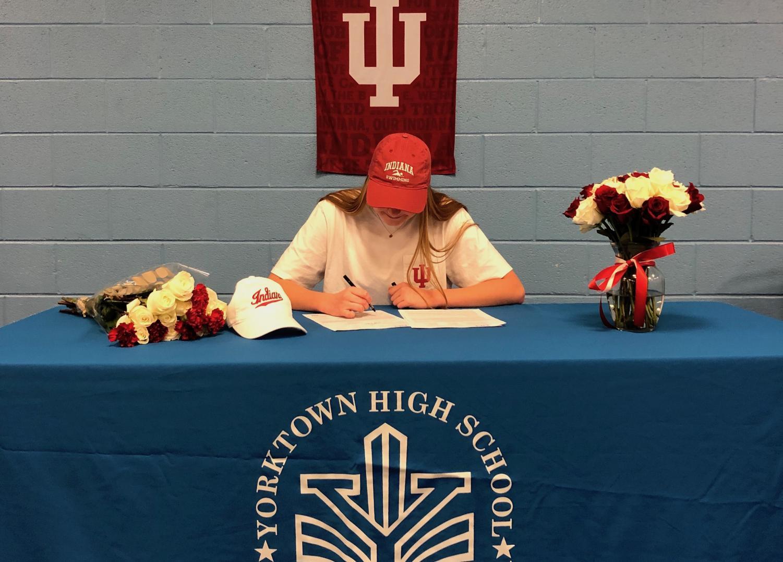Mary Kate Reicherter signing to Indiana University
