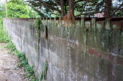 This wall is part of the history of Halls Hill.